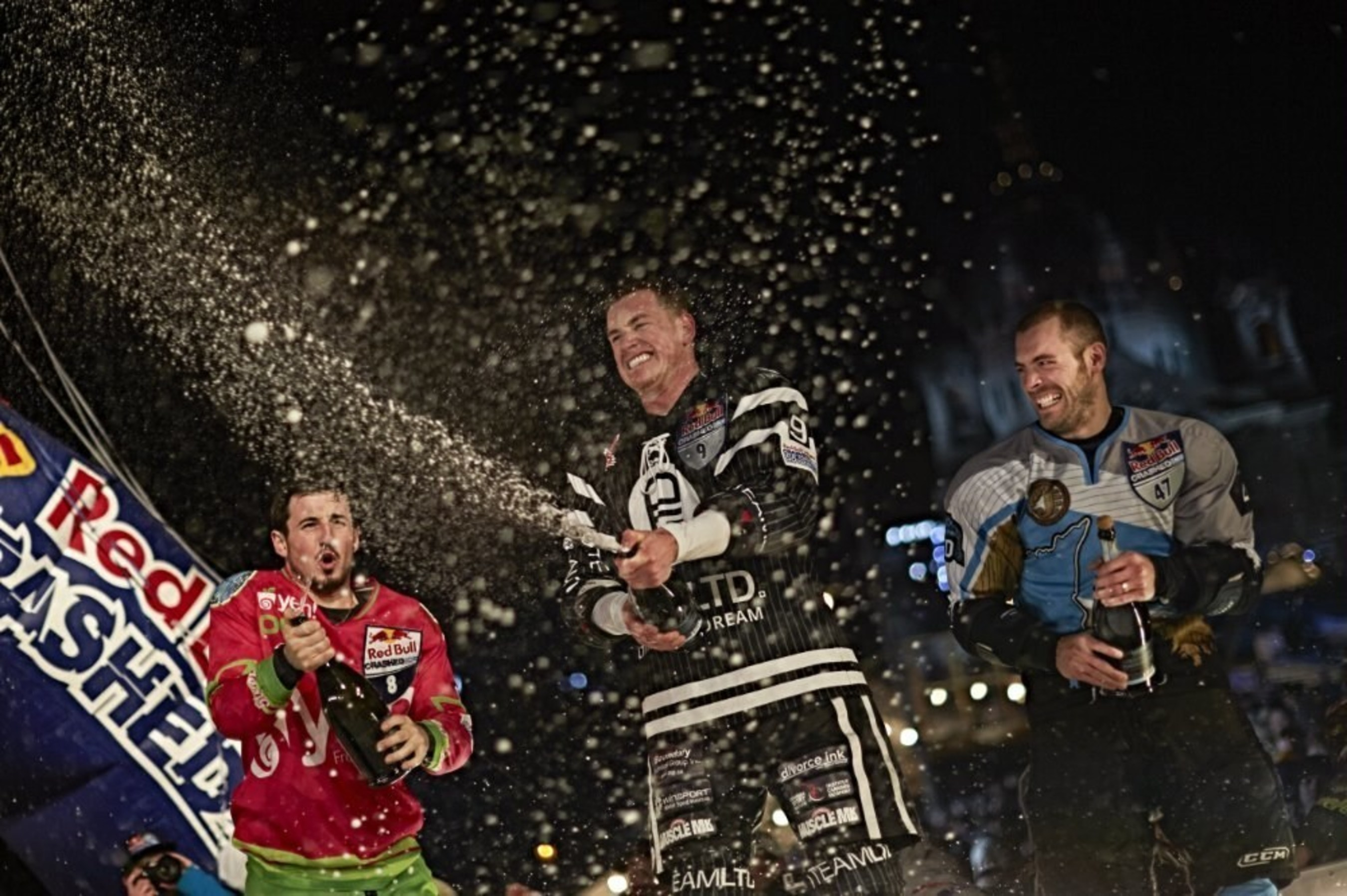 Kyle Croxall grabs third victory in four years at Red Bull Crashed Ice Saint Paul 2015.