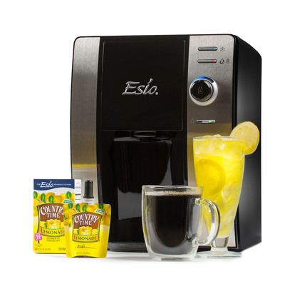 The Esio Hot & Cold Beverage System is available in Walmart U.S. stores starting Oct. 19. Enjoy chilled or steaming national beverage brands at the touch of a button. Esio is always ready, family-friendly, customizable, cost-effective and Earth friendly and provides great tasting hot and cold low sugar and calorie drink options for the whole family.  (PRNewsFoto/Esio Beverage Company)