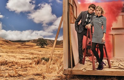 Emma Roberts has a new role, the face of Canvas by Lands' End's fall campaign. Photographed by Mario Testino, the campaign centers around the beautiful Roberts and Australian male model Jordan Barrett, wearing a mix of the pieces from the anticipated Canvas by Lands' End(TM) fall collection.
