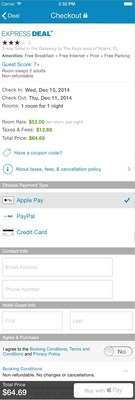 Priceline.com Becomes First Major Online Travel Agency to Integrate Apple Pay Into its Newly Updated iOS 8 App