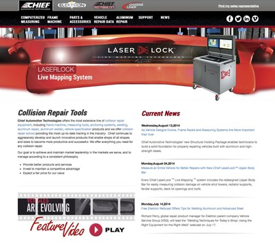 Chief Redesigns Website to Make Collision Repair Equipment, Data and Training Easier to Find