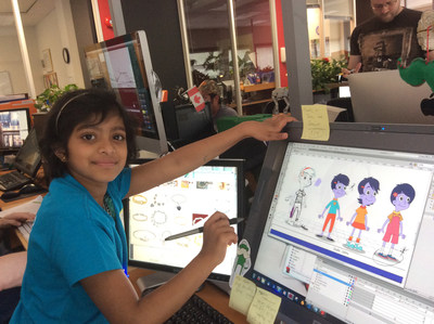 Trisha designs her very own character for Cyberchase named Oona.Credit: Courtesy Make-A-Wish Eastern Ontario