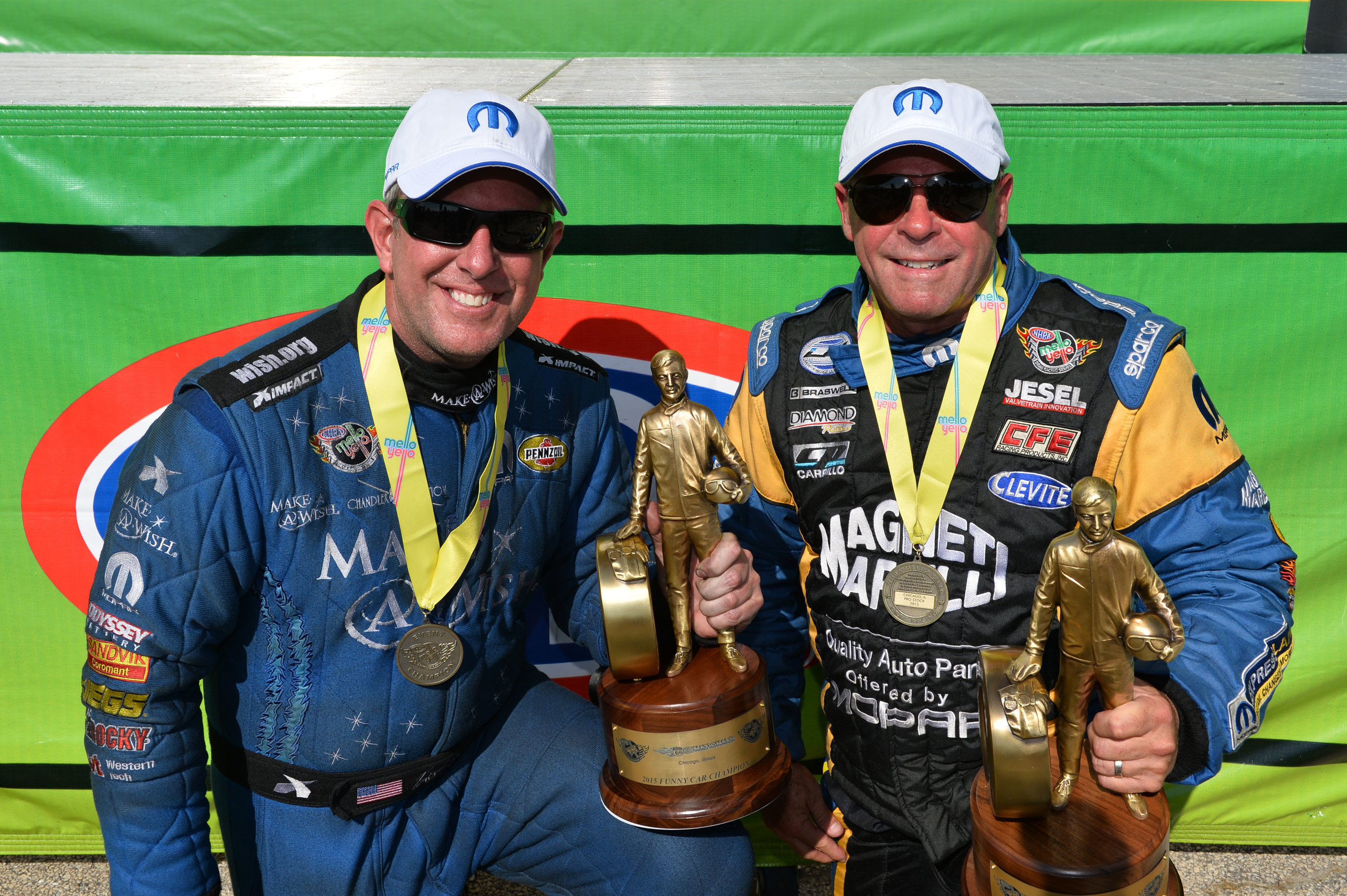 Mopar earns a pair of wins at Route 66 NHRA Nationals with Allen Johnson and Tommy Johnson Jr.