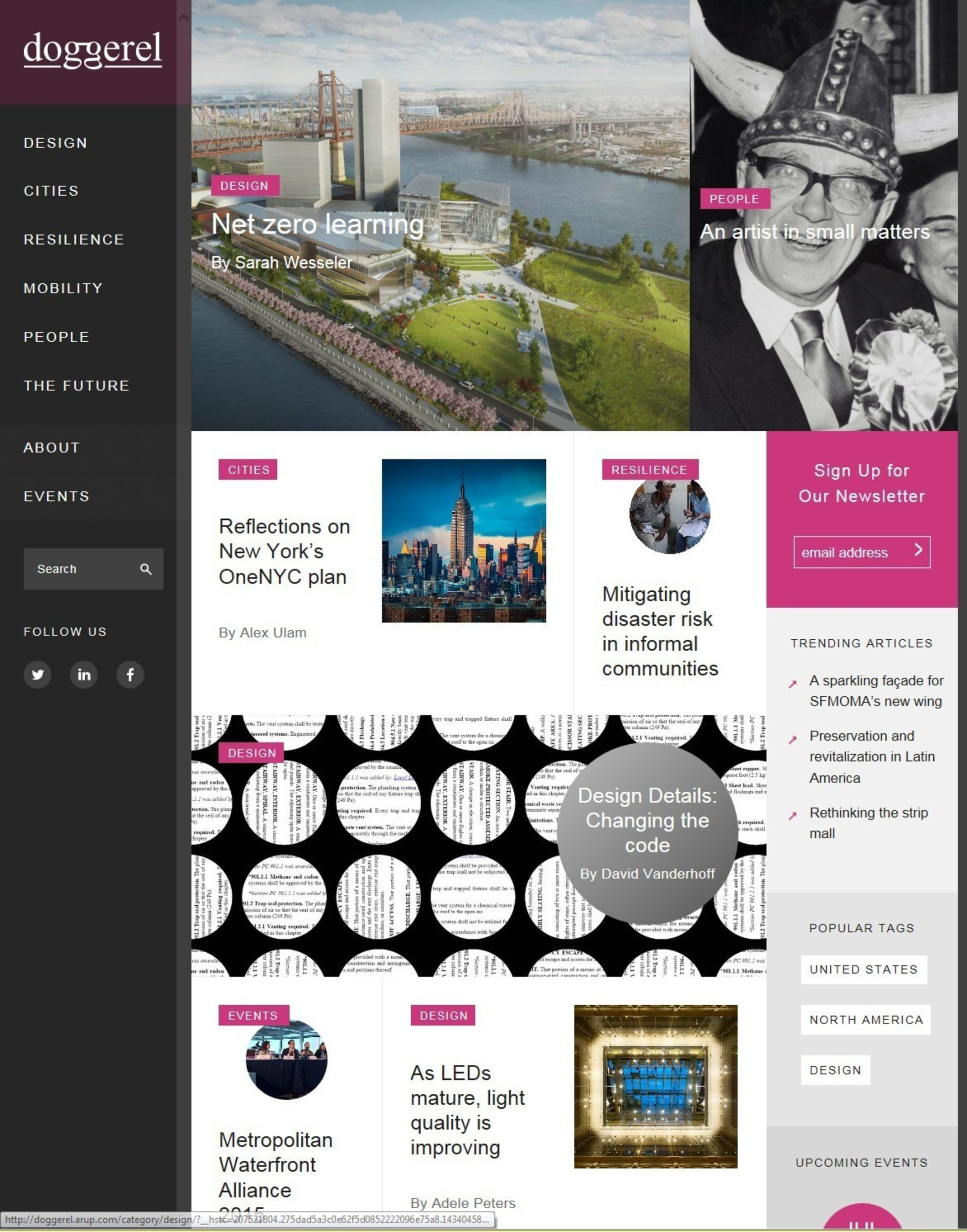 Arup Launches Doggerel, an Online Magazine to Showcase Innovation in the Built Environment