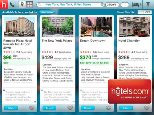 hotels.com Adds New iPad App to its Mobile Portfolio