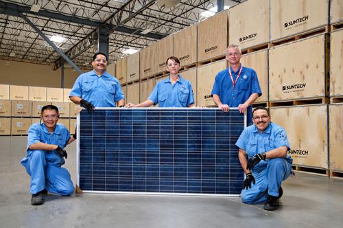 Arizona factory helps Suntech achieve 1GW milestone.  (PRNewsFoto/Suntech Power Holdings Co., Ltd.)