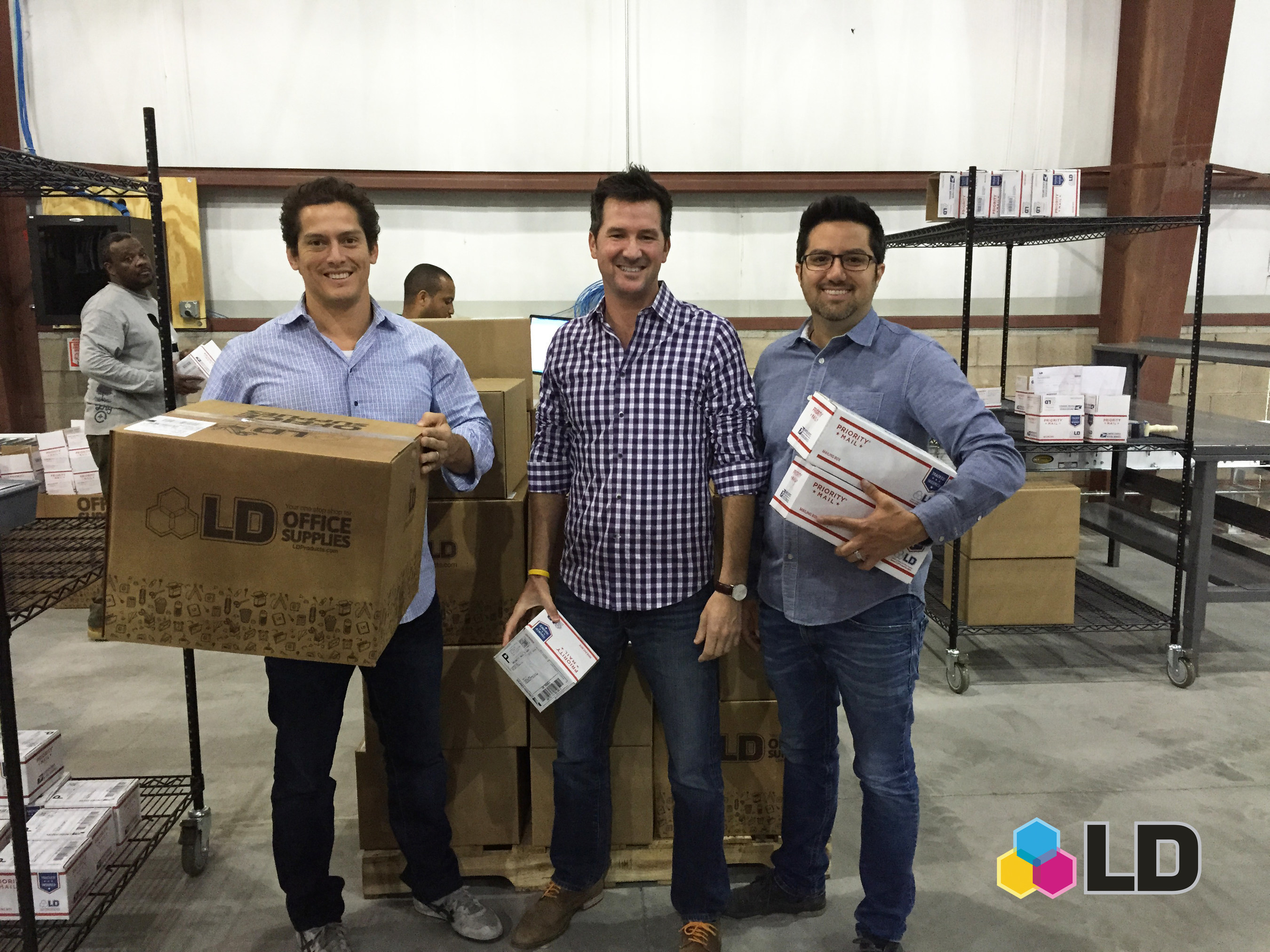 The three team members present at every LD Products location opening over the last 15 years (from left to right): Frank Farina, Vice President Business Development; Patrick Devane, Senior Vice President, Customer Care; Aaron Leon, Founder and CEO.