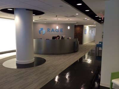 Rageframeworks welcome to 3 Allied Drive, Dedham Mass. (PRNewsFoto/RAGE Frameworks)