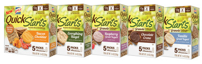 Just in time for National Breakfast Month in September, Lance Quick Starts introduces five new flavors to its lineup of convenient, delicious and nutritious breakfast biscuits designed to make the morning meal a lot easier - and a lot more interesting.