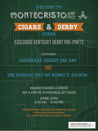 "Montecristo Social Club Celebrates the Good Life with the ""Cigars and Derby Stars"" Kentucky Derby Pre-Party (PRNewsFoto/Montecristo Social Club)"