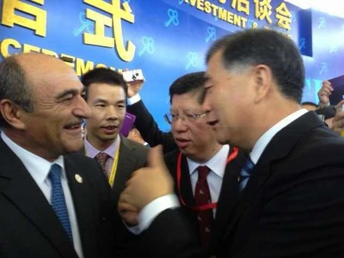 Vice Premier Wang Yang met with AmCham South China President Harley Seyedin at 18th CIFIT Opening Ceremony (PRNewsFoto/AmCham South China)