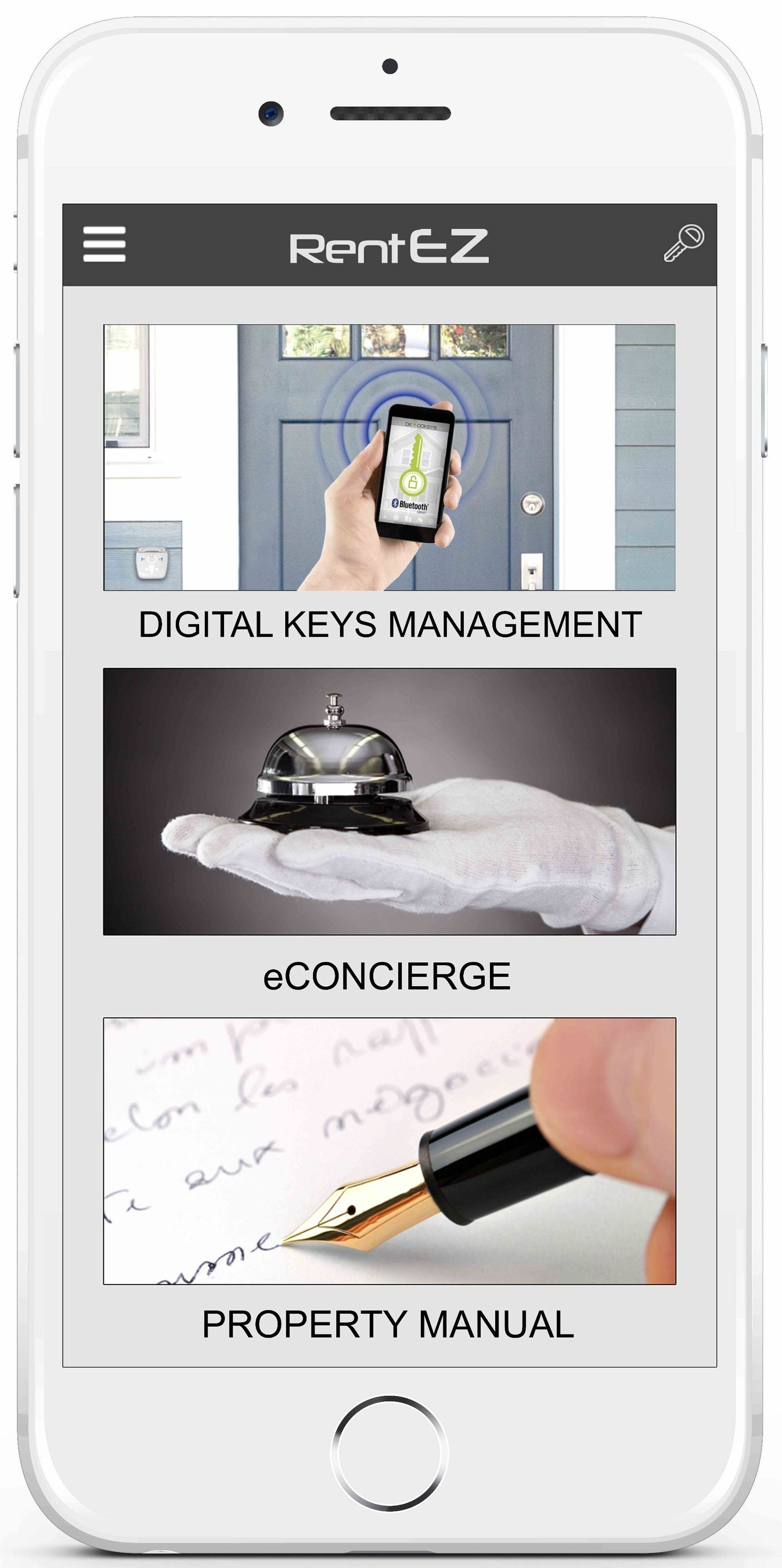 The RentEZ app from OKIDOKEYS makes professional concierge services easy and affordable for vacation rentals ...