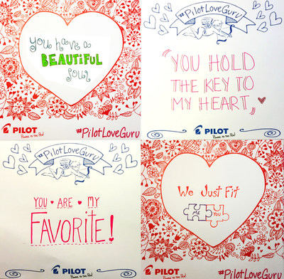 JOIN PILOT PEN IN CELEBRATING VALENTINES DAY WITH HANDWITTEN LOVE NOTES; Make This Noteworthy Occasion More Special with #PilotLoveGuru