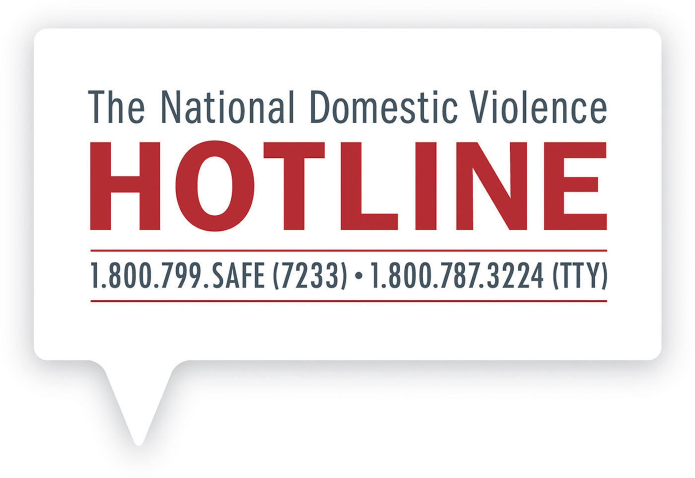 National Domestic Violence Hotline logo -- Operating around the clock, seven days a week, 24/7, confidential ...