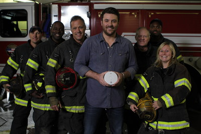 Grammy-nominated singer Chris Young and Kidde have partnered to shine a 'Spotlight on Fire Safety.' Filmed on location with the Nashville (TN) fire department, the ads feature the Country Music chart-topper and highlight how Kidde's Worry-Free 10-year sealed-battery alarms help provide peace of mind. (Photo Credit: Big Chief Entertainment)