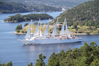 Wind Surf sails through the beautiful islands of Norway.  (PRNewsFoto/Windstar Cruises)