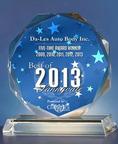 Auto Body Repair Services Company Da-Les Auto Body Receives the Best of Sunnyvale 2013 Award.  (PRNewsFoto/Da-Les Auto Body)