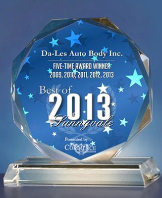 Auto Body Repair Services Company Da-Les Auto Body Receives the Best of Sunnyvale 2013 Award.  (PRNewsFoto/Da-Les Auto Body)