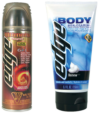New Edge Body(TM) and Edge Ultimate(TM) Products Give Modern Men the Tools they Need to Look Their Best.  (PRNewsFoto/Edge (R) Shave Gel)