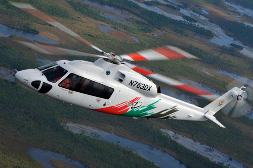 Photo shows a new Sikorsky S-76D helicopter in flight.  (PRNewsFoto/Sikorsky Aircraft Corp.)