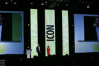 Cleancorp Co-Founders, Lisa and Hamish Macqueen, onstage at ICON14. (PRNewsFoto/Infusionsoft)