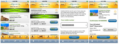 La Quinta Inns & Suites New LQ-Instant Hold(TM) Makes It Easy To Reserve Rooms On-The-Go -- Using Just Your Phone Number.  (PRNewsFoto/LQ Management L.L.C.)