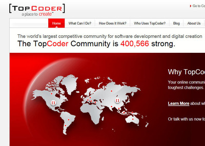 TopCoder Open Innovation Community.  (PRNewsFoto/TopCoder, Inc.)
