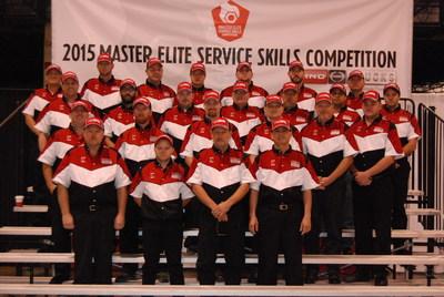 Hino Trucks 2015 Service Skills Competition finalists