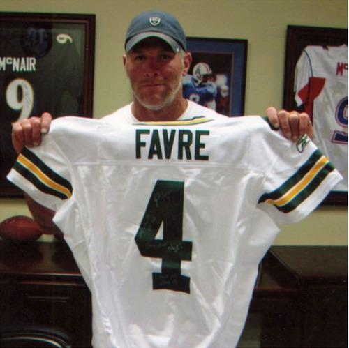 official photos 0c292 ebef5 Autographed Brett Favre Green Bay Packers Uniform Worn When ...