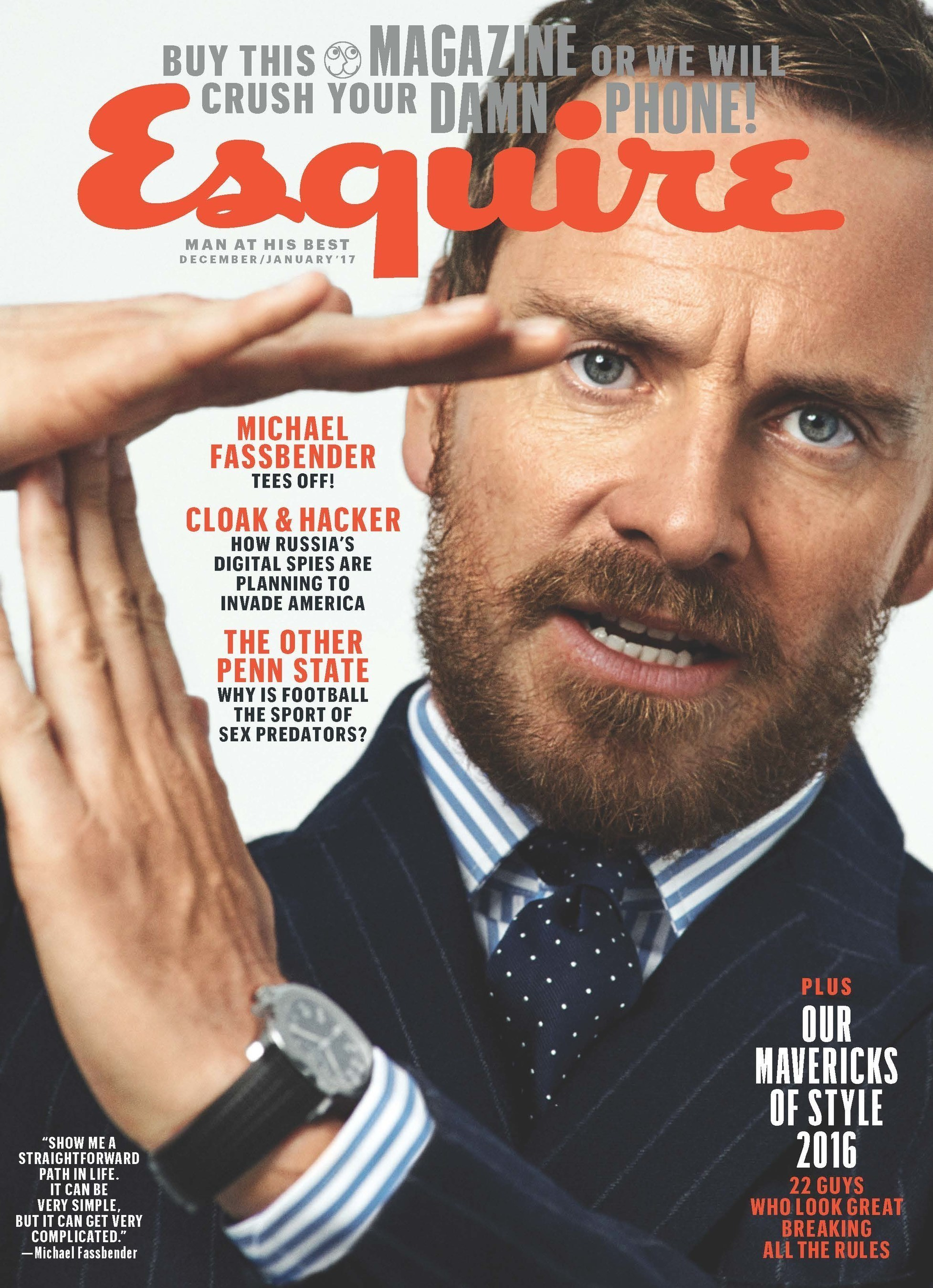 December/January issue of Esquire Magazine