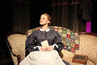"""Jana Bernard as """"Marmee"""" March in Gill St. Bernard's production of Little Women this April.  (PRNewsFoto/Gill St. Bernard's School)"""