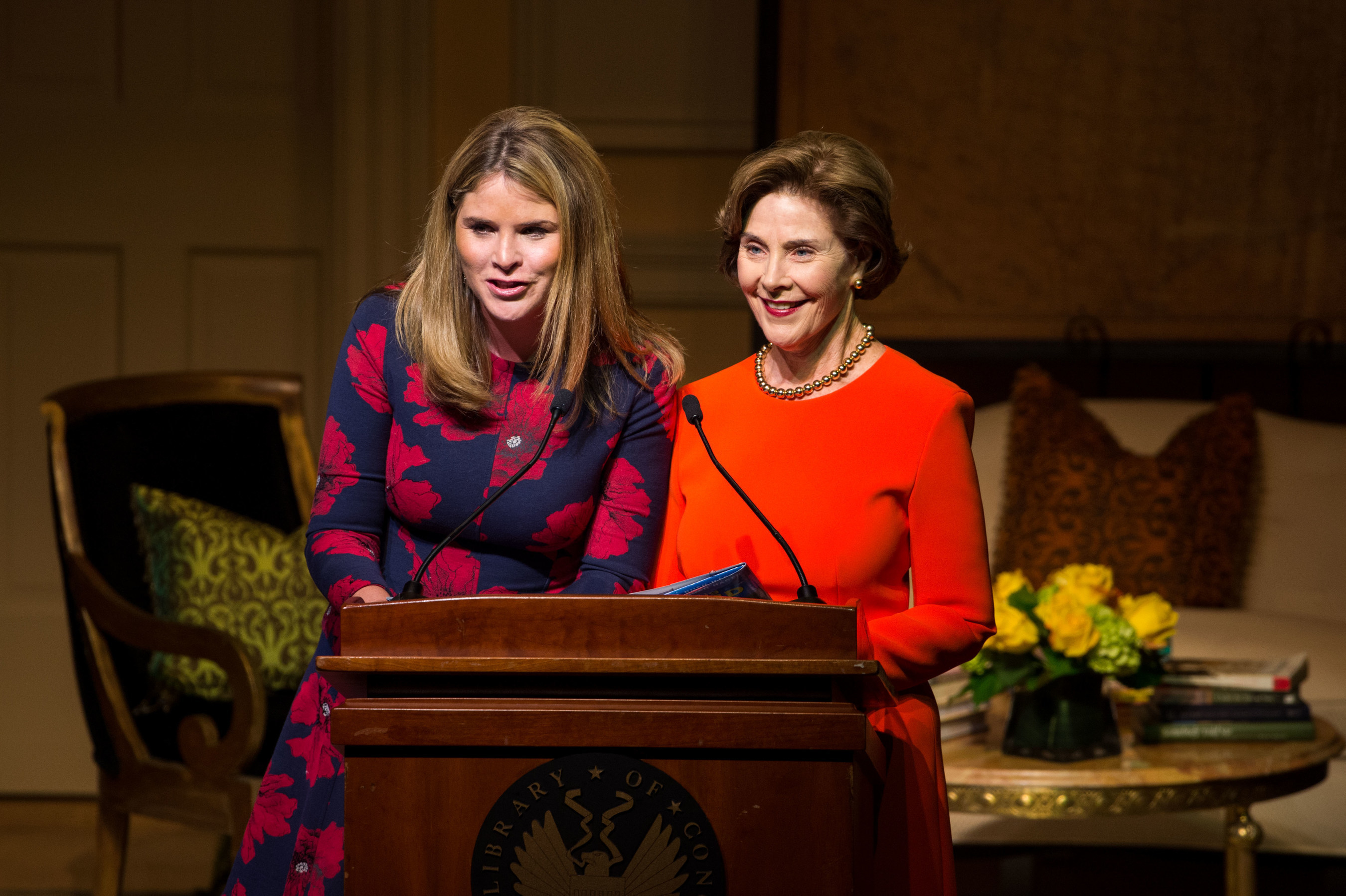Jenna Bush Hager and Laura Bush at the Barbara Bush Foundation's National Celebration of Reading