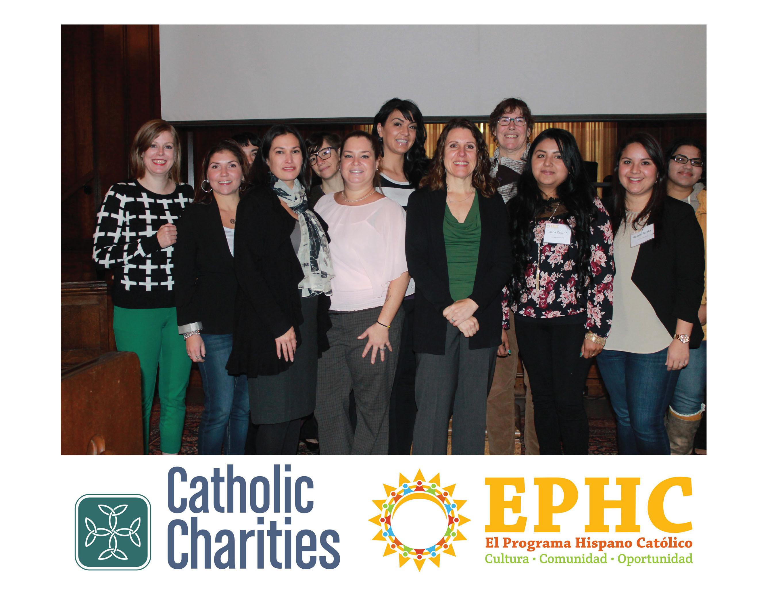 Patricia Rojas of El Programa Hispano Católico and Proyecto UNICA staff  with Multnomah County Chair Deborah ...