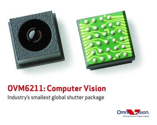 OVM6211 brings computer vision to consumer applications. (PRNewsFoto/OmniVision Technologies Inc.)