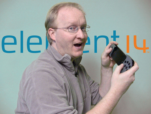 "Ben Heck transforms Apple iPhone into the ultimate hand-held gaming device in element14's ""The Ben Heck Show.""  (PRNewsFoto/element14)"