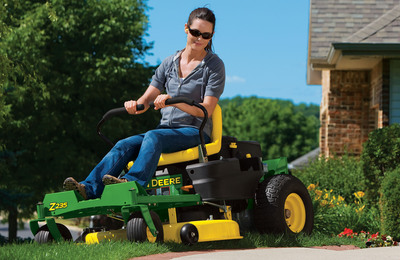 Cut your mowing time with the new John Deere Z235 and Z255.  (PRNewsFoto/John Deere)