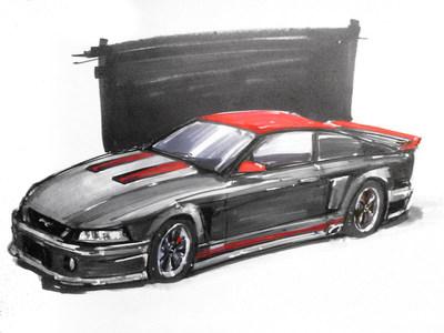 Johnathan Mullins' Make-a-Wish Mustang