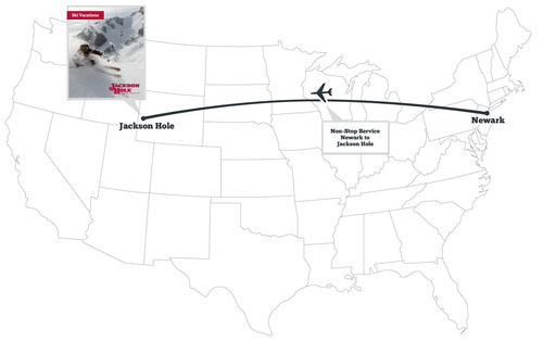 Non-Stop Flights from Newark to Jackson Hole.  (PRNewsFoto/Jackson Hole Central Reservations)