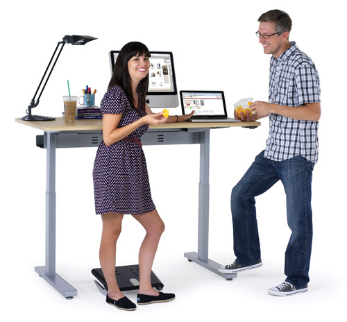 Get off your tush with Anthro's newest Sit-Stand Workstation, Elevate II. (PRNewsFoto/Anthro Corporation) ...