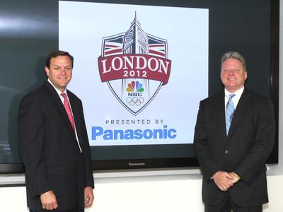 Mark Lazarus, Chairman, NBC Sports Group and Joseph M. Taylor, Chairman & CEO, Panasonic Corporation of North America.  (PRNewsFoto/Panasonic)