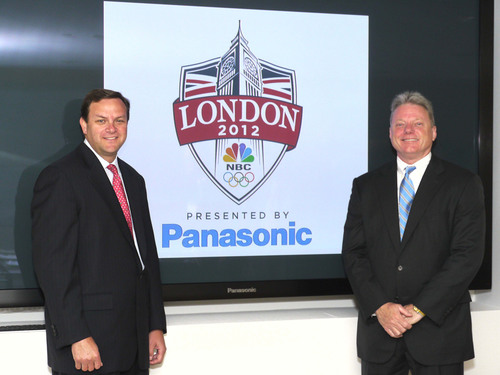 Mark Lazarus, Chairman, NBC Sports Group and Joseph M. Taylor, Chairman & CEO, Panasonic Corporation of North ...