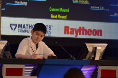Seventh-grader Edward Wan, 13, of Bellevue, Washington, at the 2016 Raytheon MATHCOUNTS National Competition. Wan was named national champion. (photo: Raytheon Company)