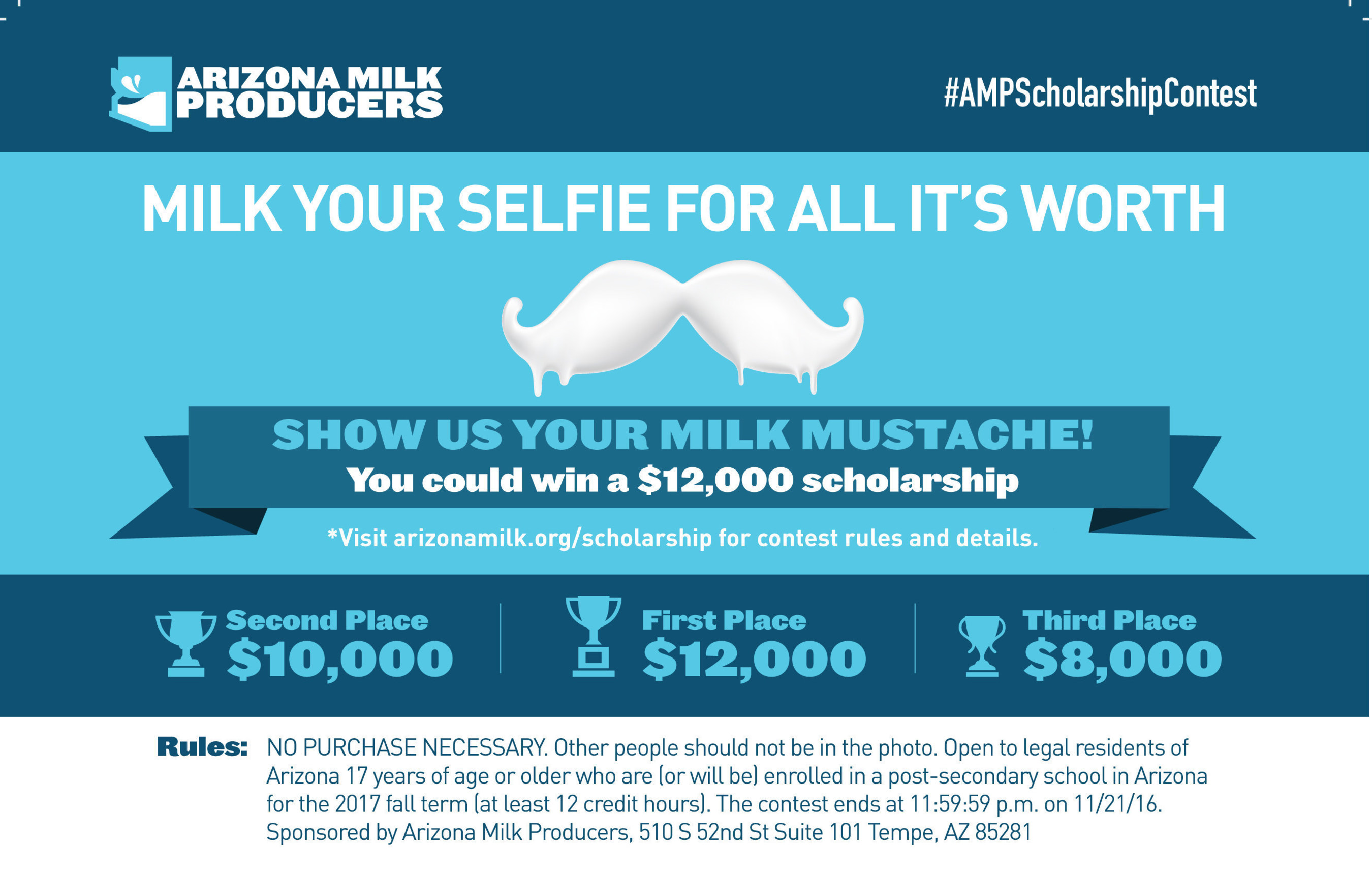 Arizona Dairy Farmers give back to community, support education with milk mustache contest