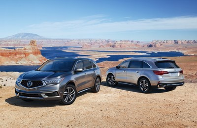 Refreshed 2017 Acura MDX Launches with Bold New Styling, Premium Features and Standard AcuraWatch(TM) Technology