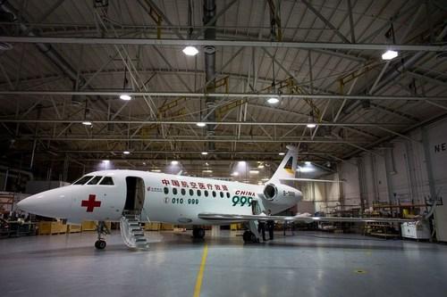 Dassault Delivers State-of-the-Art Medevac Falcon to Beijing Red Cross (PRNewsFoto/Dassault Aviation)