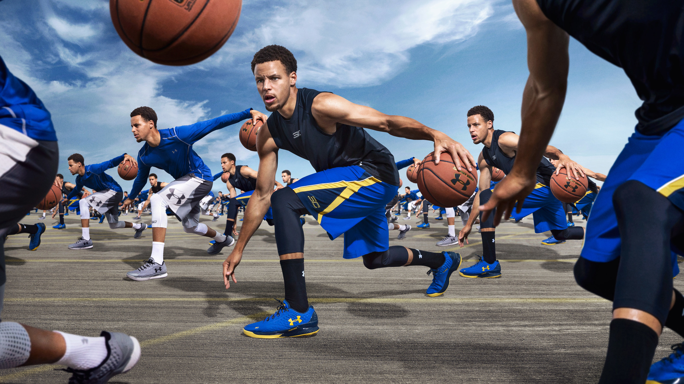 NBA MVP Stephen Curry in Under Armour's RULE YOURSELF campaign.