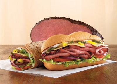 New Arby's Angus Cool Deli Sandwich.  (PRNewsFoto/Arby's Restaurant Group, Inc., Stephen Hamilton)