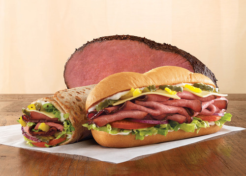 New Arby's Angus Cool Deli Sandwich.  (PRNewsFoto/Arby's Restaurant Group, Inc., Stephen Hamilton)