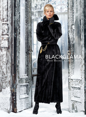 An ad from Blackglama's Fall 2013 campaign featuring Carolyn Murphy.  (PRNewsFoto/Blackglama)