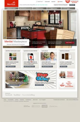 Merillat® lleva su sitio web a otro nivel con un idioma